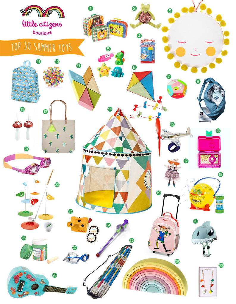 Top 30 Summer Toys Bestsellers and Most Fun for Summer Holidays predicted by Little Citizens Boutique