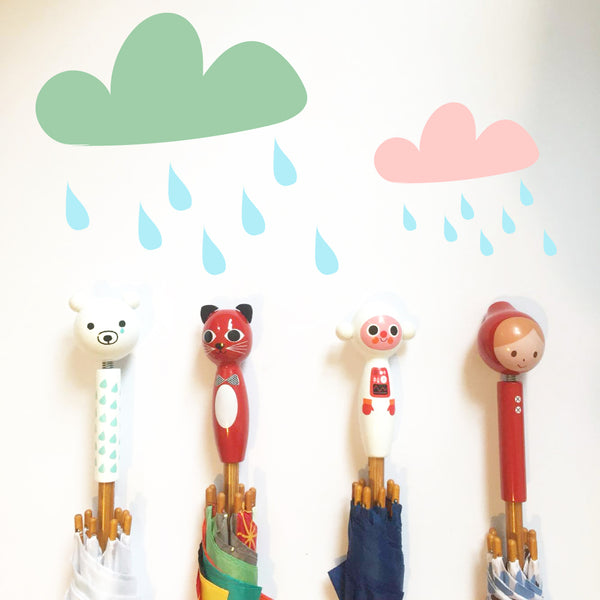 Children's umbrellas designed by Ingela Arrhenius and Shinzi Katoh