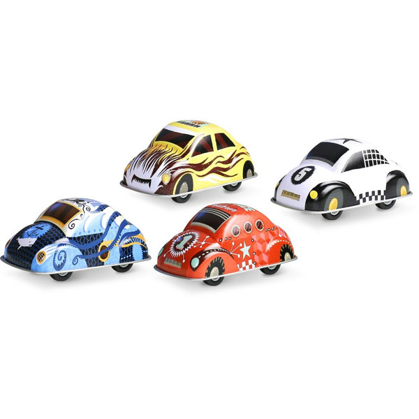 Retro Friction Tin Cars