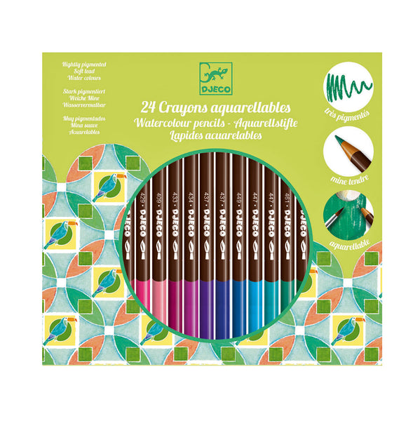 24 Watercolour Pencils by Djeco