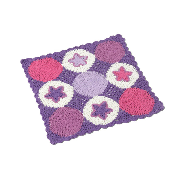 Purple Patch Crochet Danish Baby Doll Cot Blanket - Smallstuff
