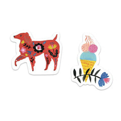 50 Lovely Stickers Designed by Sarah Walsh for Djeco