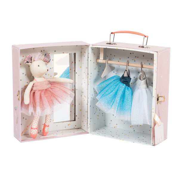 Ballerina Mouse Suitcase by Moulin Roty