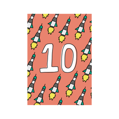 Tenth Birthday Greetings Card from Little Citizens Boutique