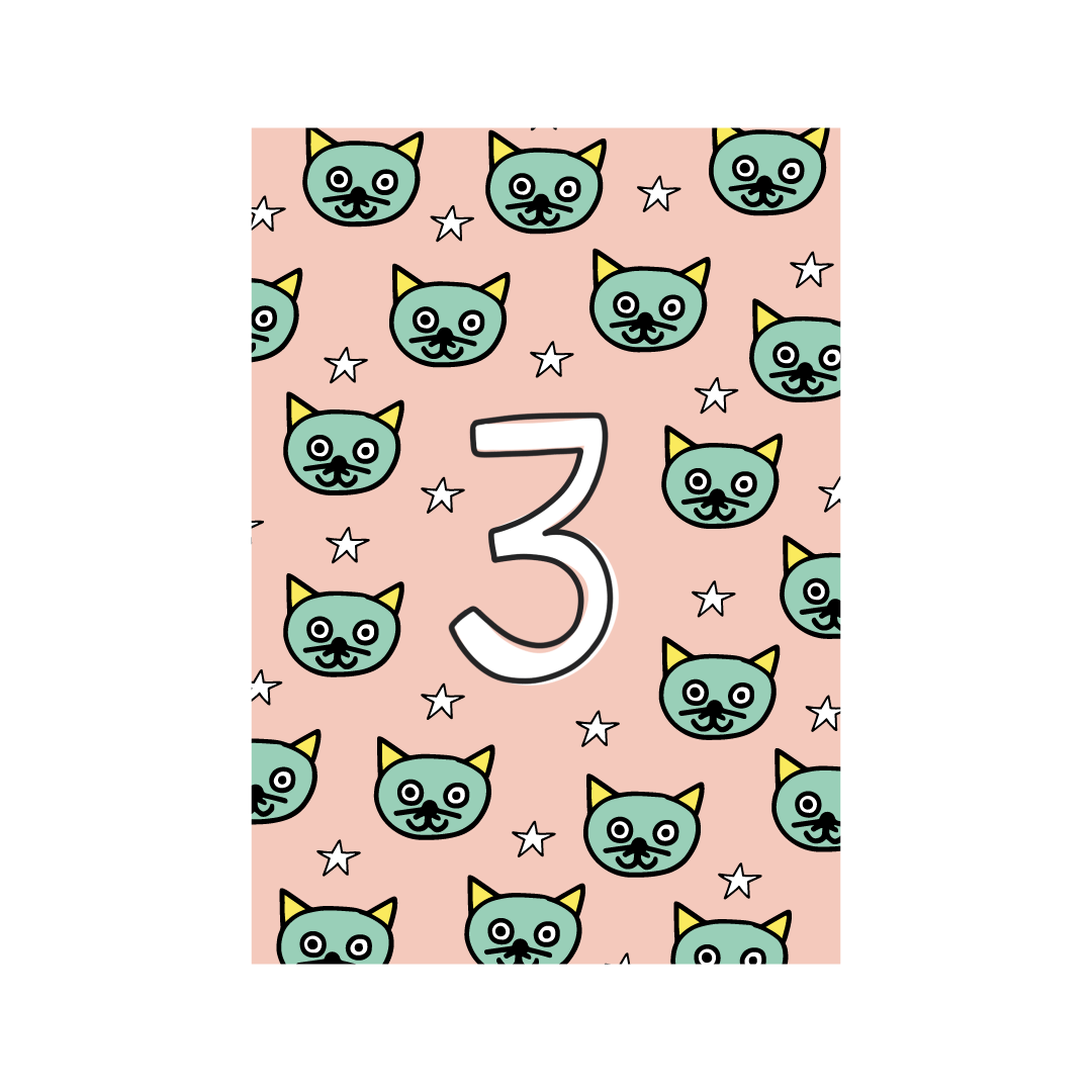 Third Birthday Greetings Card from Little Citizens Boutique