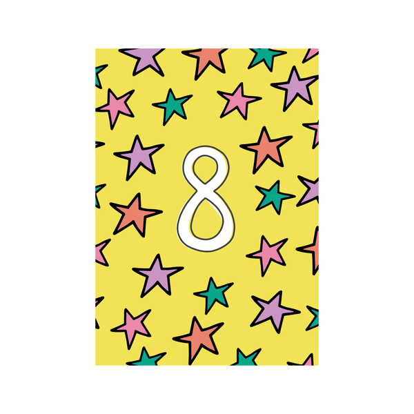 Eighth Birthday Greetings Card from Little Citizens Boutique