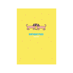 Birthday Pugs Greetings Card from Little Citizens Boutique