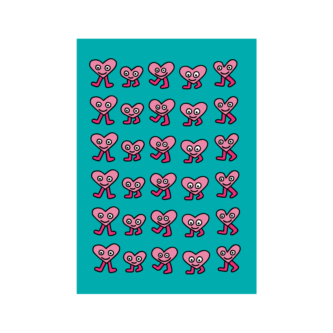 Heart Design Greetings Card from Little Citizens Boutique