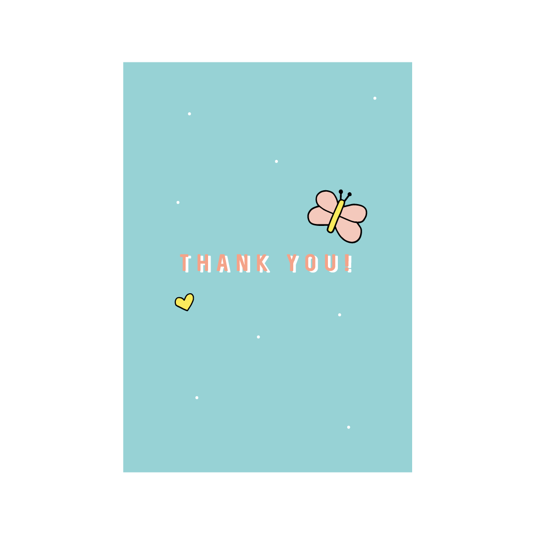 Thank You Greetings Card From Little Citizens Boutique