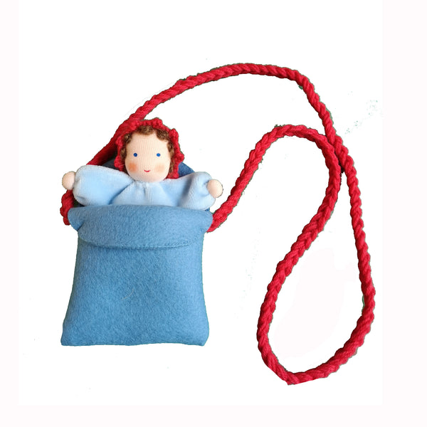 Handmade Felt Doll in Bag by Ambrosius