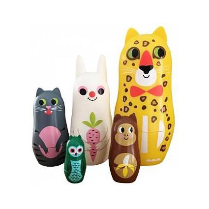Matryoshka with Ears Family by Omm Design