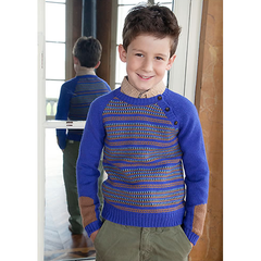 Daniel Jumper - Blue/Wood - Little Citizens Boutique  - 2