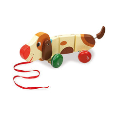 Basile the Dog Pull Along Toy by Vilac - Little Citizens Boutique  - 2