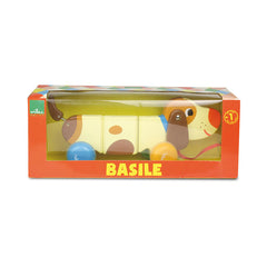 Basile the Dog Pull Along Toy by Vilac - Little Citizens Boutique  - 3