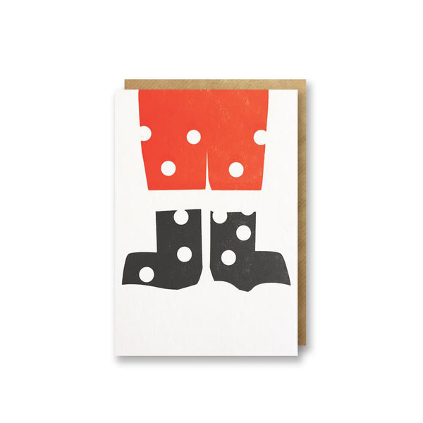 Bits and Bobs Santa Christmas Mini Card pack of 6 from Letterpress