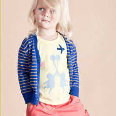 Blue & Silver Striped Cardigan - Little Citizens Boutique