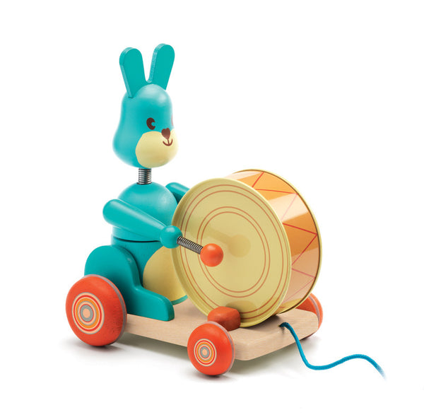 Bunny Boom Pull Along Toy by Djeco