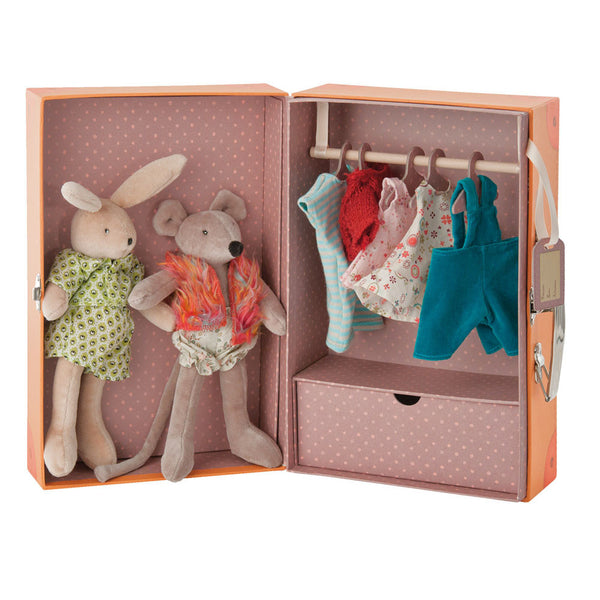 The Bunny & Mouse Little Wardrobe by Moulin Roty