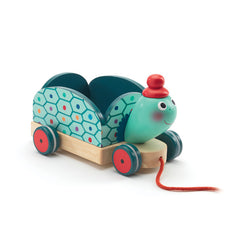 Clementine Turtle Pull Along Toy by Djeco - Little Citizens Boutique