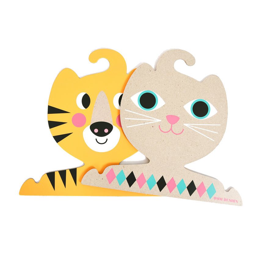 Reversible Cat and Tiger Wall Hanger by Ingela Arrhenius at Omm Design
