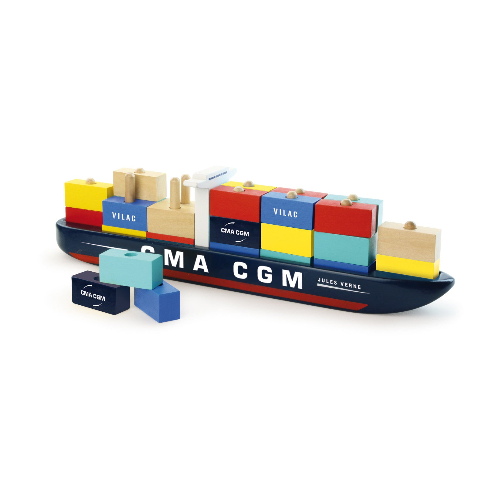 Container Ship - Stacking Toy - Little Citizens Boutique  - 1