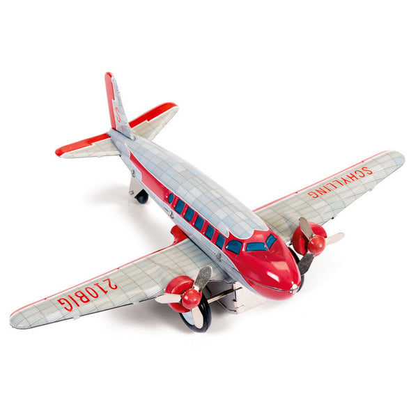 DC-3 Tin Airplane Toy by Tobar