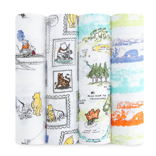 Winnie the Pooh 4-Pack Disney Baby Swaddles - Aden & Anais