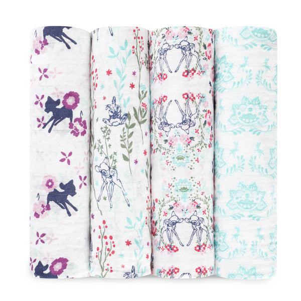 Bambi 4-Pack Disney Baby Swaddles - Aden & Anais