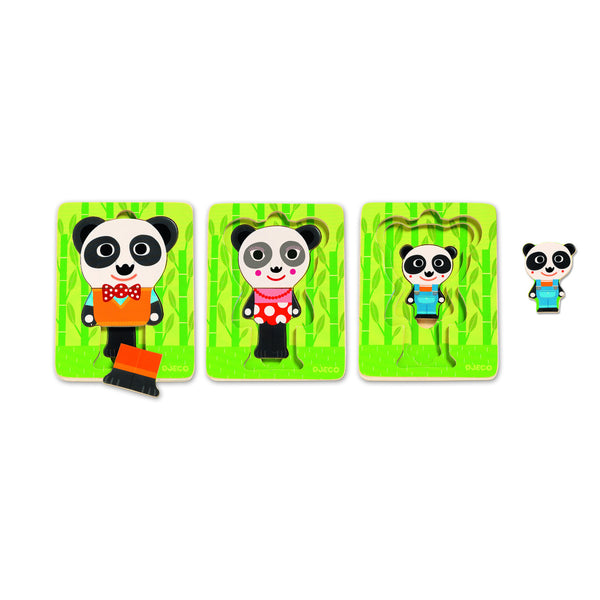 Stackable Panda Puzzle