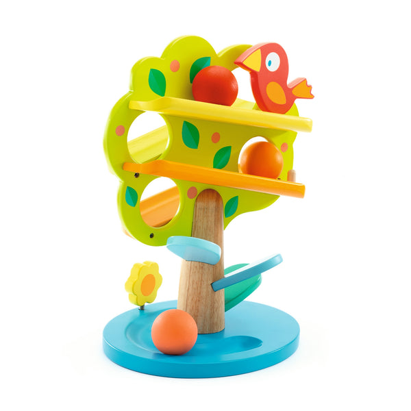 Tac Boum Pom Wooden Apple Tree - Djeco Early Development Toys