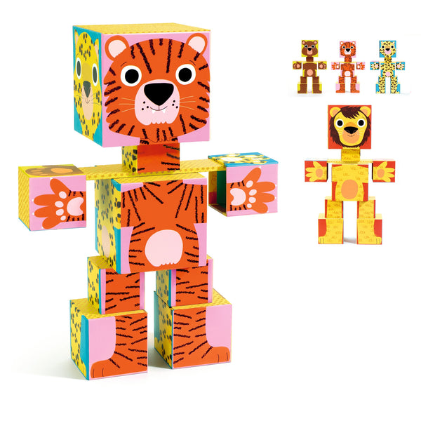 Djeco Cubes For Infants - Totem Cubes Animo