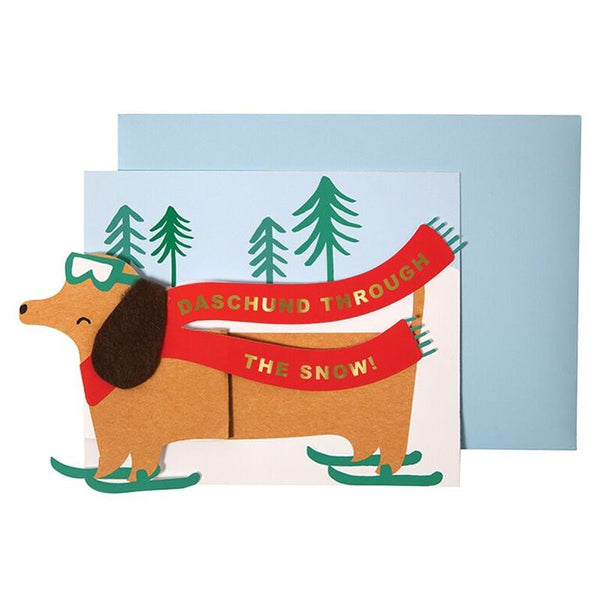 Dachshund Card  by Meri Meri