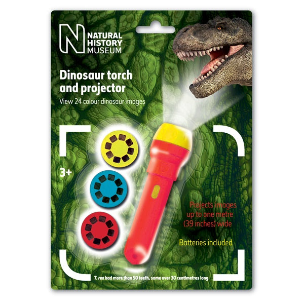 Natural History Museum Dinosaur Torch And Projector By Brainstorm