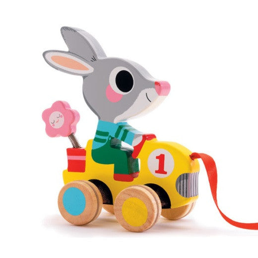 Pull Along Toy - Roulapic Rabbit - Little Citizens Boutique