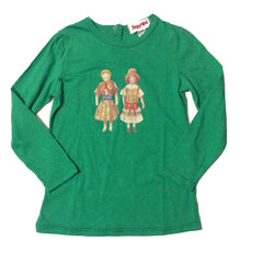 Dolly Dolls Long Sleeve Tee - Emerald Green - Little Citizens Boutique  - 1