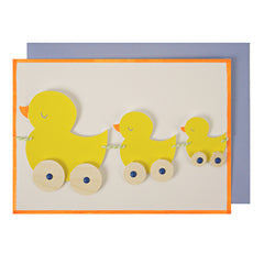 Here Come the Ducks - Newborn Card - Little Citizens Boutique  - 1