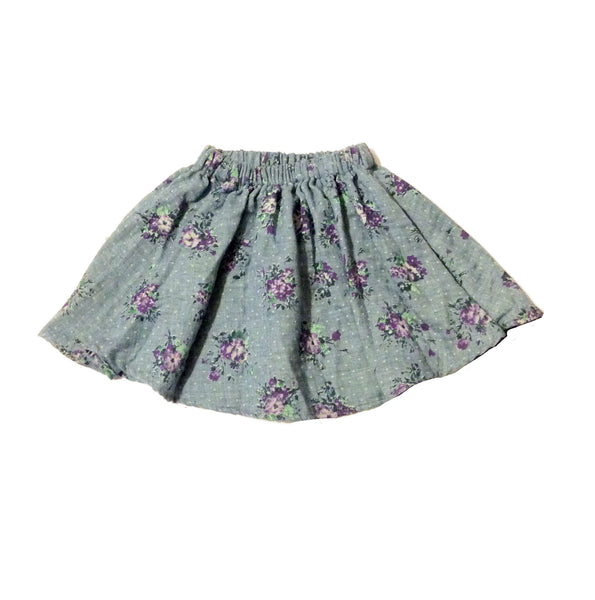 Full Skirt - Dusk Flower Bouquet- last one in Size 2Y!