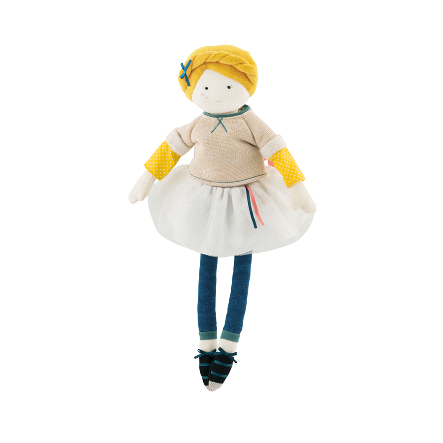 Mademoiselle Eglantine Plush Doll by Moulin Roty - Little Citizens Boutique