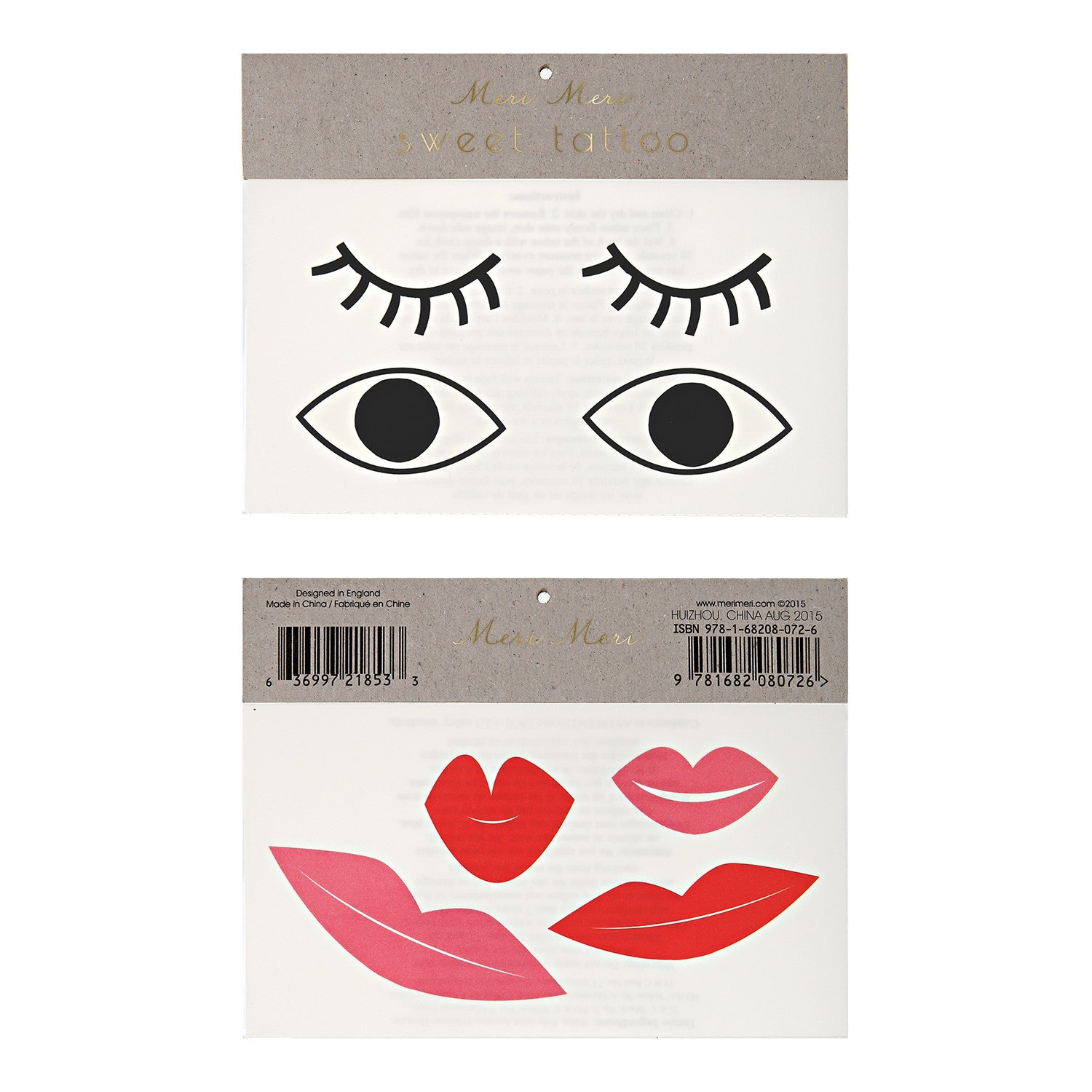 Eyes Lips Tattoos by Meri Meri - Little Citizens Boutique