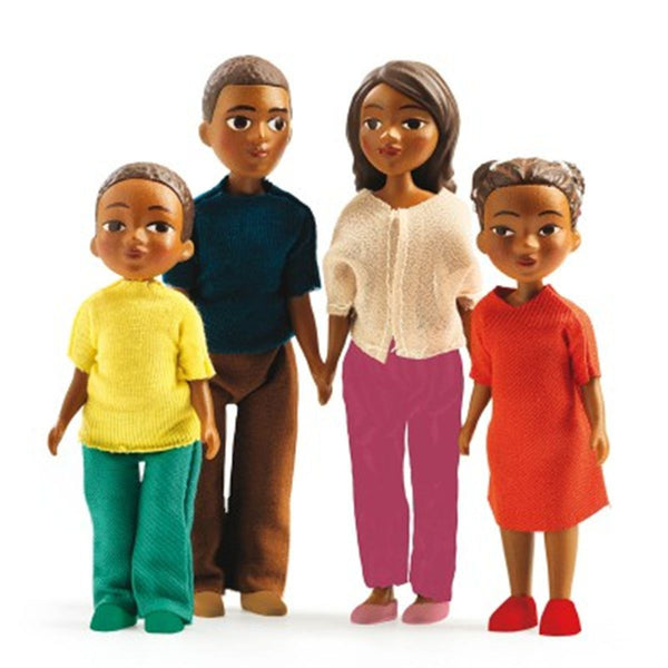 Milo and Lila Family of Four Dollhouse Toy Figures -Petit Home Djeco