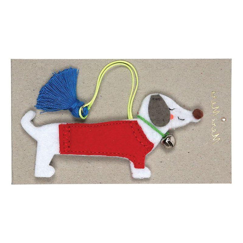 Felt Sausage Dog Decoration by Meri Meri