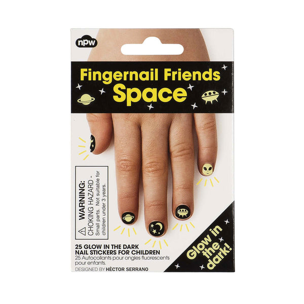 Fingernail Friends - Glow in the Dark Space by Natural Products