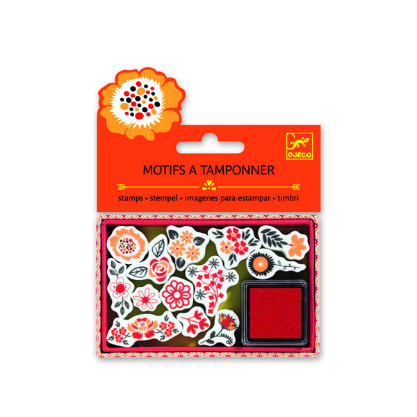 Djeco Flower Art Craft stamps