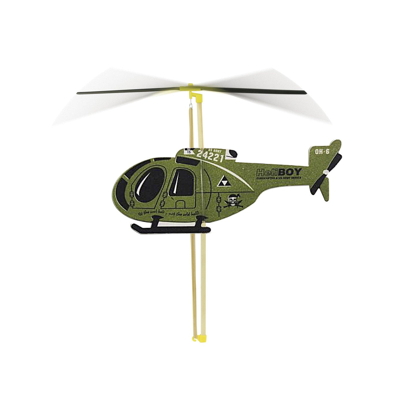 Vilac Flying Helicopter - Green - Little Citizens Boutique  - 1