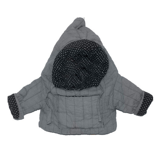 Gael Reversible Hooded Jacket - Grey - Little Citizens Boutique  - 1