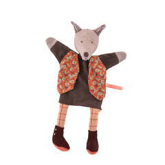 Gentleman Wolf Puppet by Moulin Roty - Little Citizens Boutique  - 2