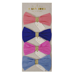 Gift Bows - Set of Four Blue, Orange and Pink Bows by Meri Meri - Little Citizens Boutique