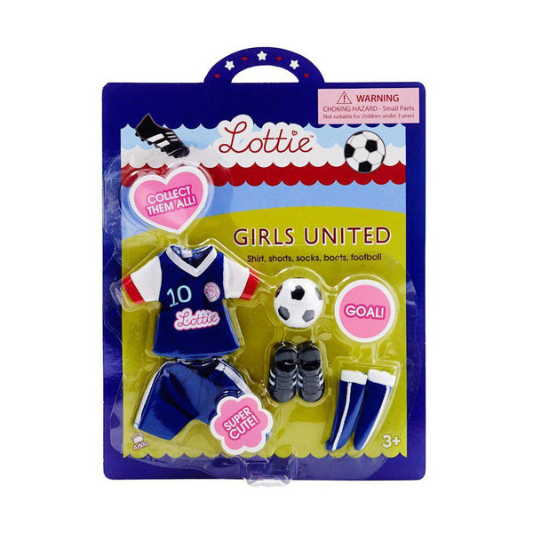 Girls United Football Accessories Lottie Doll Outfit