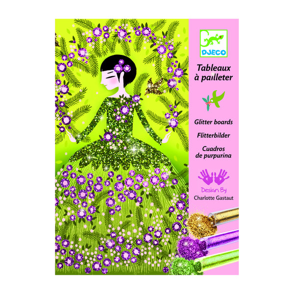 Glitter Boards Dresses Art Kit by Djeco