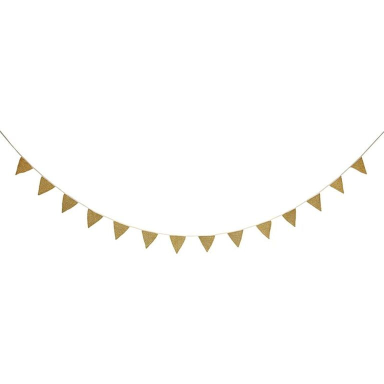 Gold Knitted Bunting by Meri Meri